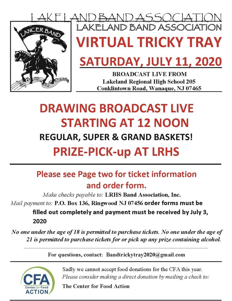 Update: LL Virtual Tricky Tray is July 11