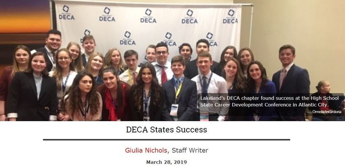 DECA States Success