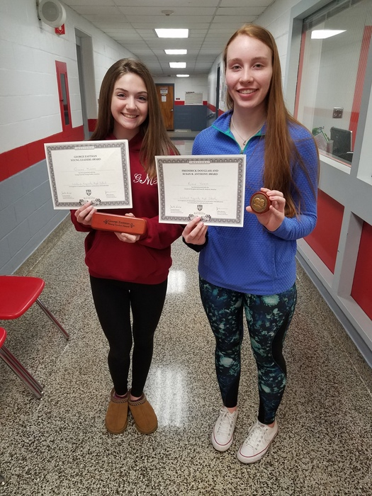 The University of Rochester recognized Gillian Murphy with the George Eastman Young Leaders Award and Robin Yochim with the Susan B. Anthony Award.  Congratulations Lady Lancers!