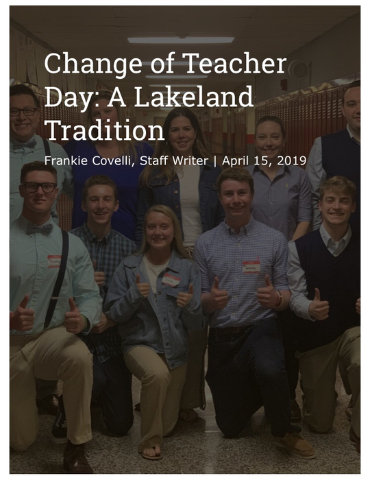 Change of Teacher Day News Article
