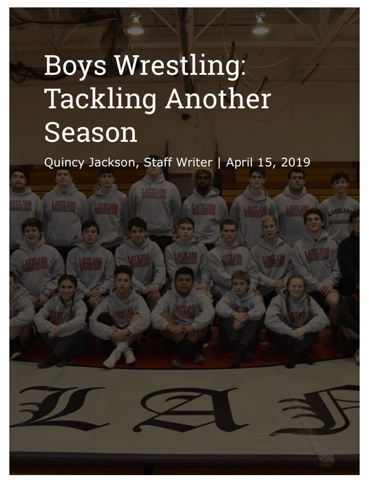 Boys Wrestling Sports Article