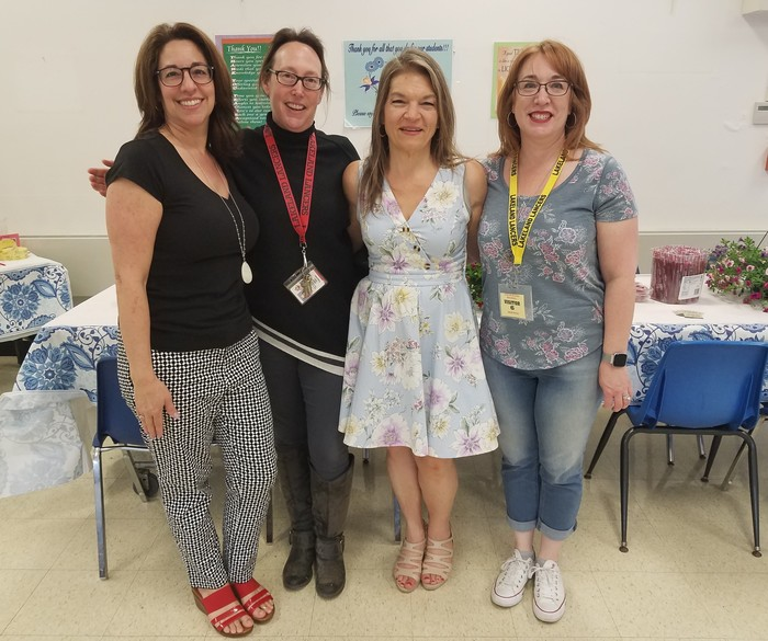 The Lakeland PTO Staff Appreciation Brunch Is Off The Charts......Huge Thanks To Our PTO Team (L to R) Stacy I., Audrey L., Debra S., and Hilary L......Thank You For Your Support....
