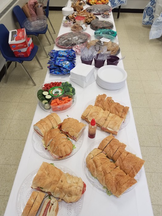 The Lakeland PTO Staff Appreciation Brunch Is Off The Charts. Huge Thanks To Our PTO Team (L to R) Stacy I., Audrey L., Debra S., and Hilary L.Thank You For Your Support.