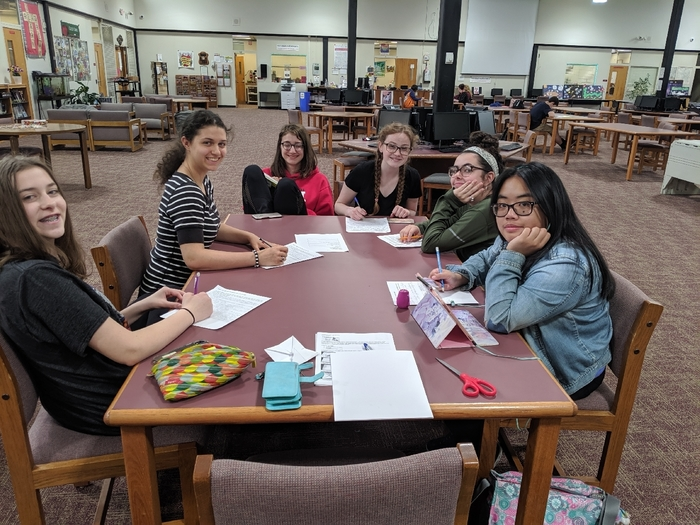 The Creative Writing Club meets two Thursdays a month after school, in the LMC.
