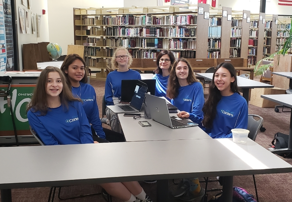 Coed Coders competing in national Girls Go Cybersecurity Competition.