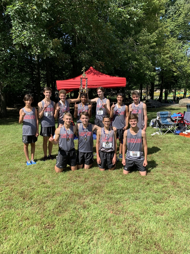 Congratulations to the Lakeland Boys' Cross Country Team for winning the Varsity B Division of the Season Opener Invitational and to Jesse Campoverde, first place finisher.