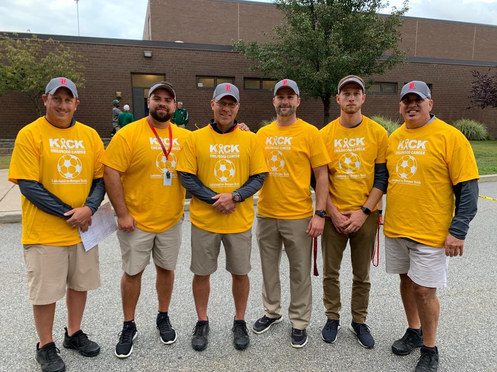Lakeland Football Coaches support a great cause on gameday!