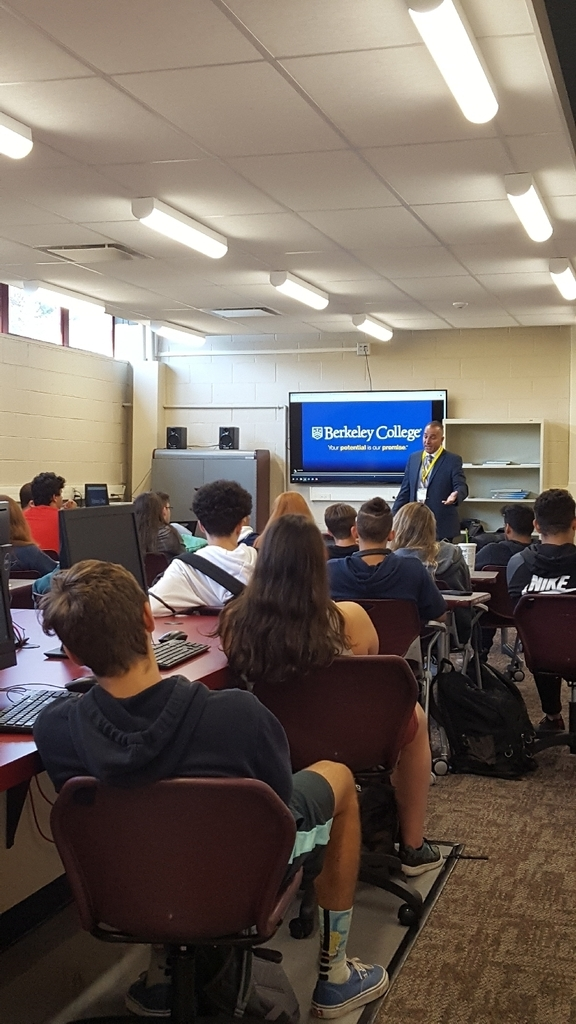 Berkeley College's Pat Verile presenting to our School to Work class about Personal Branding!