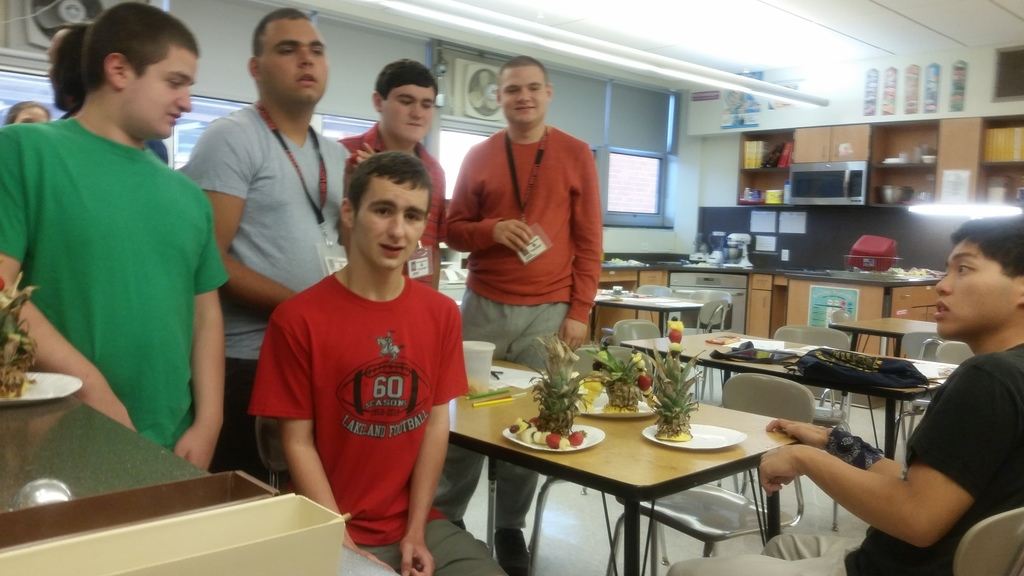 CORE & LEARN students enjoy the fruit  displays they prepared