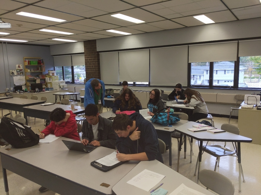 Literary Magazine/ Creative Writing Club working hard on their latest projects. New members are always welcome!