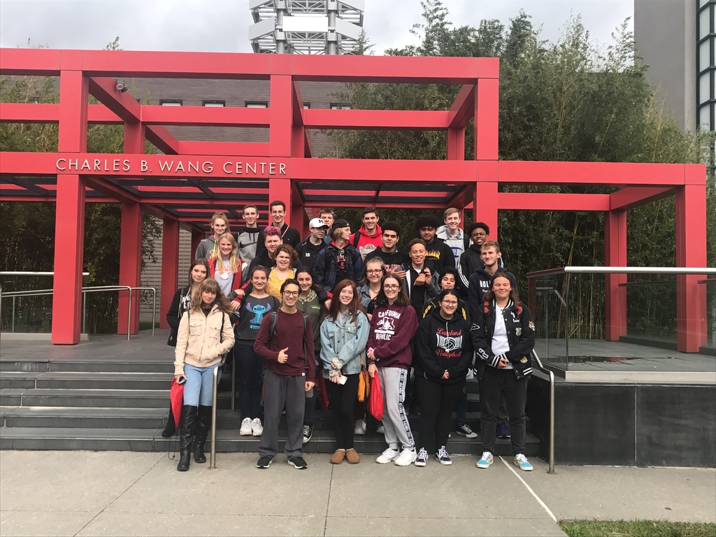 LRHS @ Stony Brook University for a college field trip