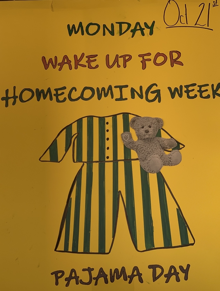Show your school spirit Monday, 10/21