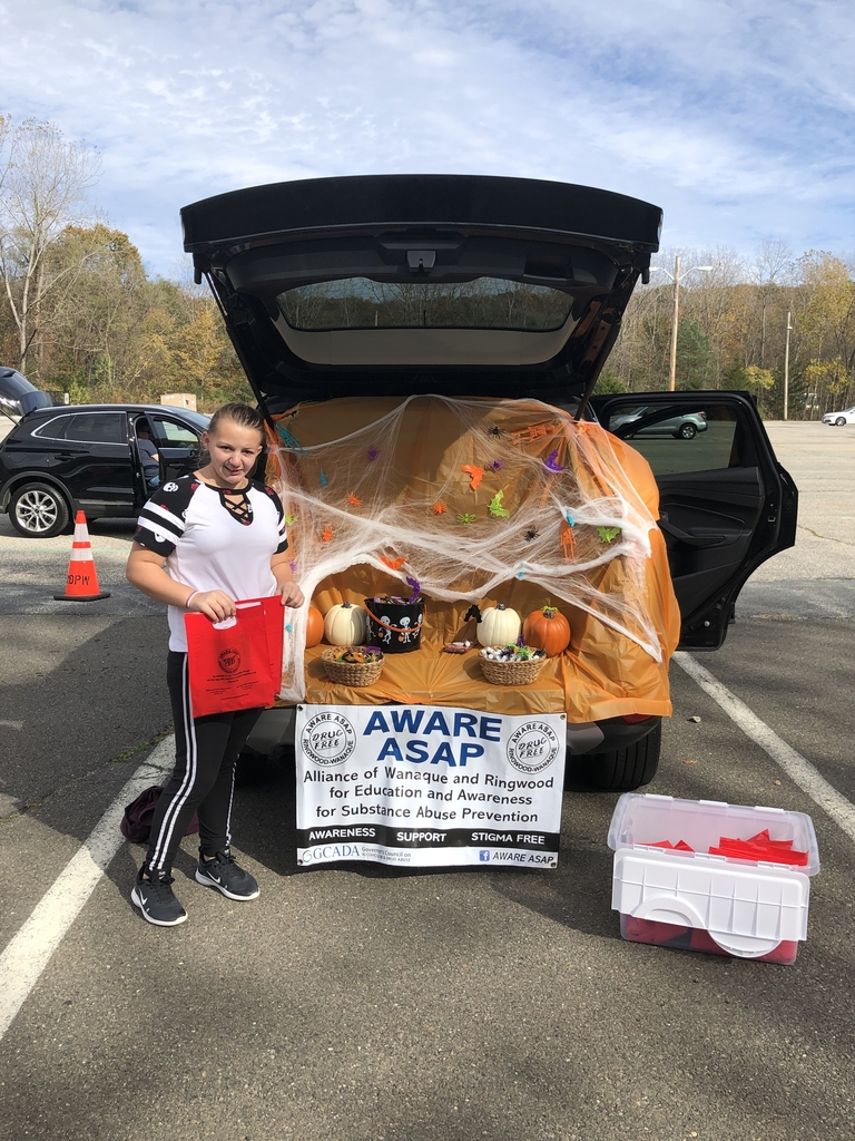 Gia Caffasso representing LEAP and AWARE at Ringwood's Trunk or Treat on Saturday 🎃