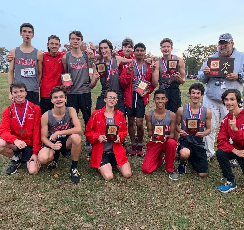 Congratulations to the Boys' Cross Country Team for winning the Passaic County Championship on Friday, for the first time in 21 years.  The team was lead by first place finisher Jesse Campoverde, 6th place Zach Voll and 9th place Mason Murphy