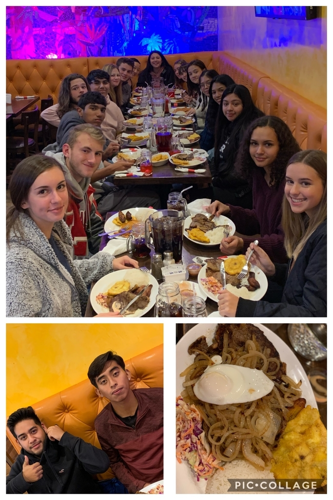 Enjoying some authentic Colombian food to end our day #feast #yourcommunityschool