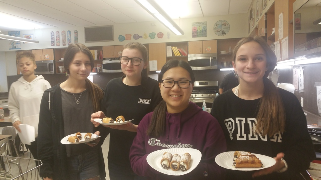 World Culture & Cuisine students show off home-made cannolis