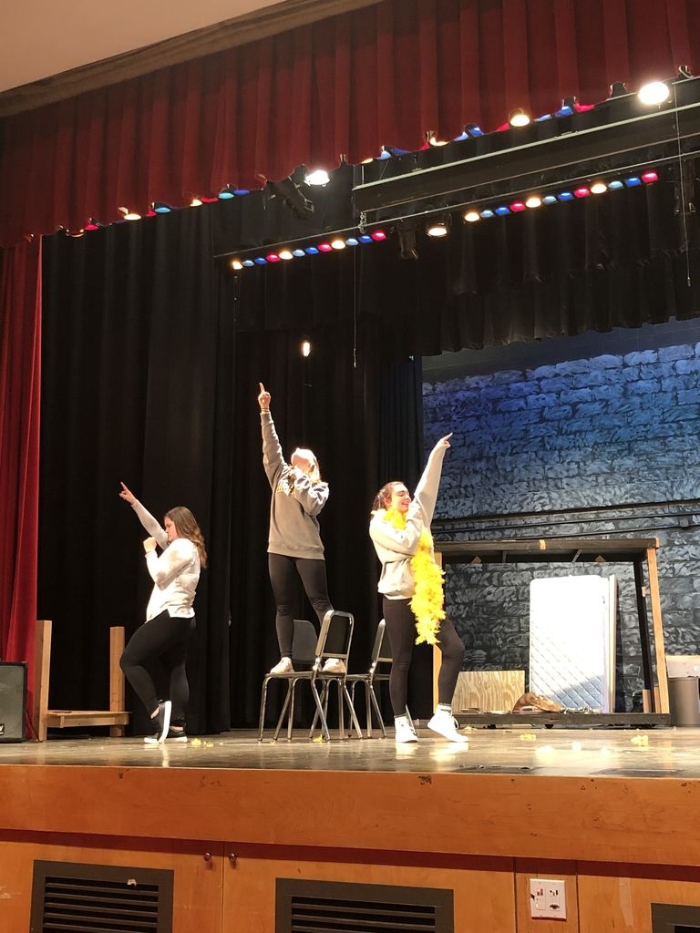 "Students rehearsing ""Dancing Queen"" at an All School Production practice."