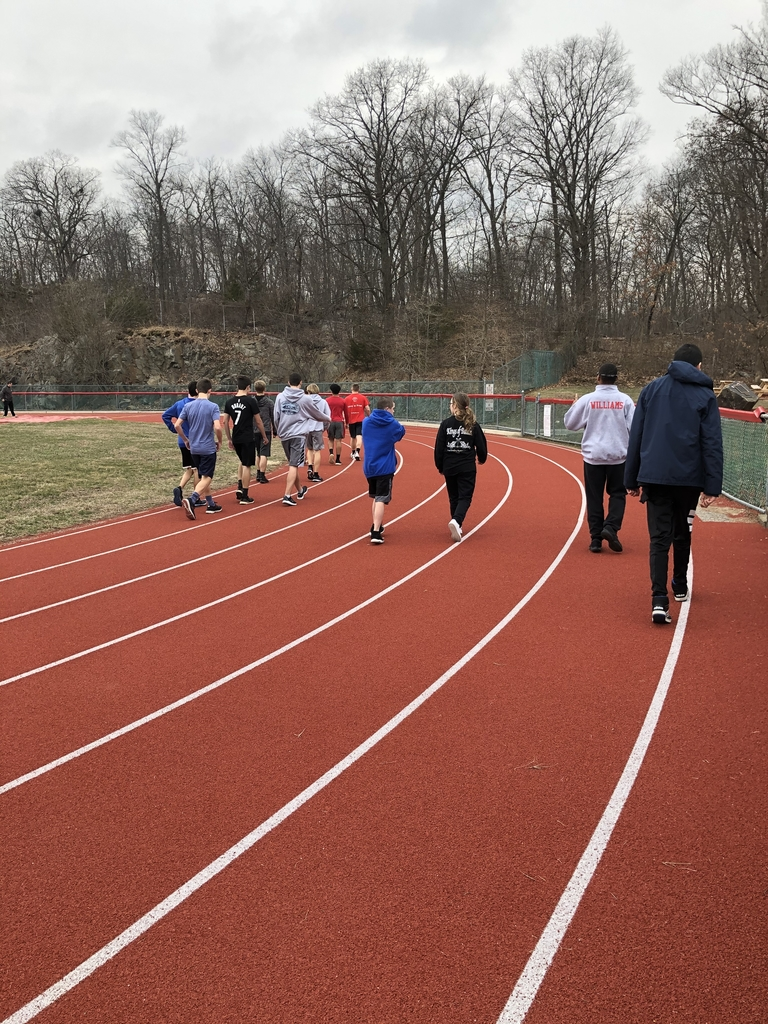 Unified Track practice is off to a great start today!