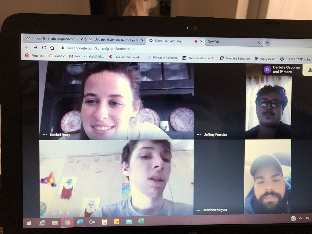 The CORE and LEARN Program's staff and students staying connected through Google Hangout