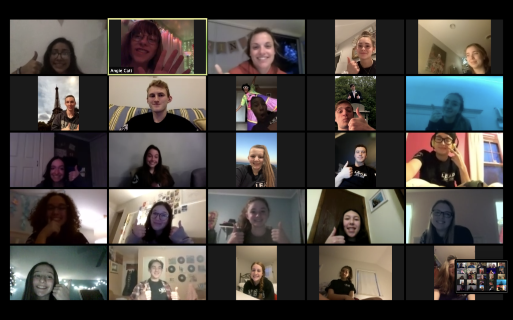 Our LEAP Members are staying connected through Zoom. Don't forget to check in on those you care about! #yourcommunityschool